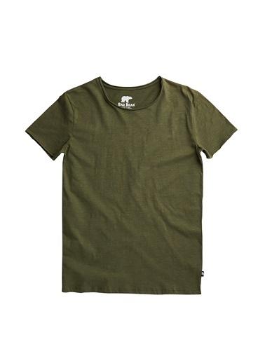Bad Bear Erkek Tişört O-Neck 180107011-Wht Yeşil